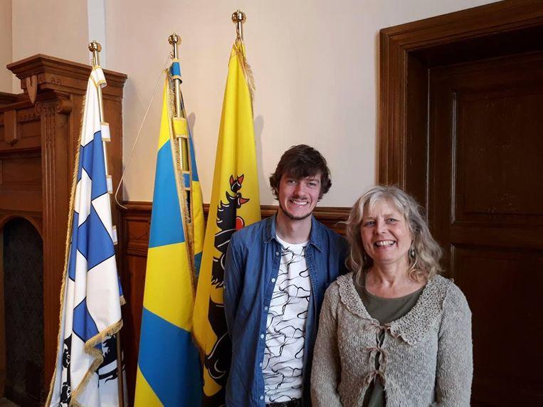 Voorzitter Wieber Ballegeer en secretaris Maria Boydens.