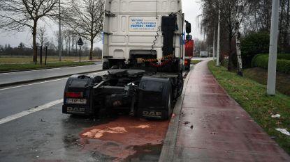 Zwaar ongeval in Herent: jonge vrouw verliest controle over stuur en belandt tegen geparkeerde truck