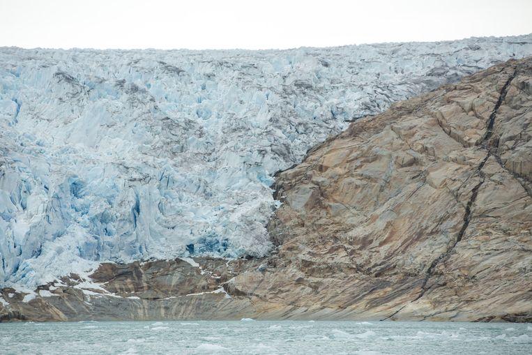 Een gletsjer op Groenland. Beeld Mike Roelofs