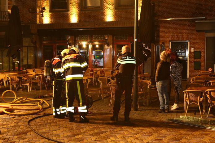 De brandweer was met twee wagens aanwezig.