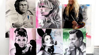 'Speedpainter' bekend van Belgium's Got Talent veilt online schilderijen in strijd tegen corona