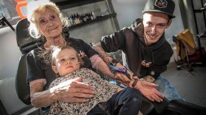Alles voor je kleinkinderen. Dus ook een tattoo