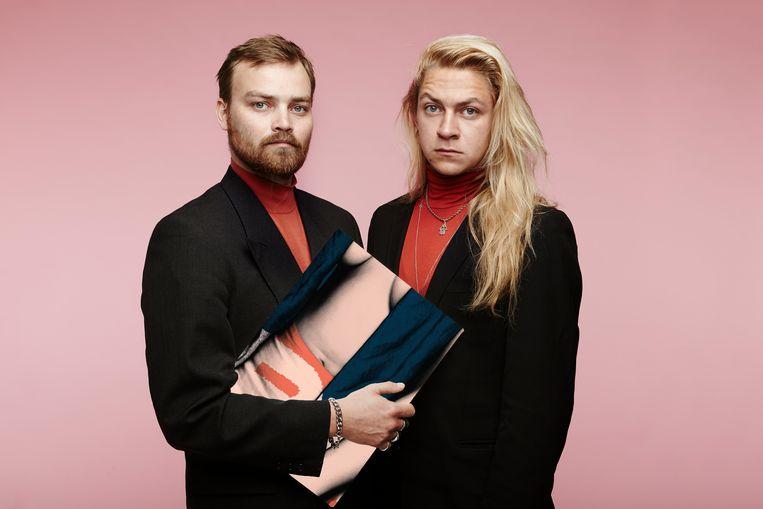 Tim Olivier Somer en Tarik Moree, makers van de voorstelling Kunst. Beeld null