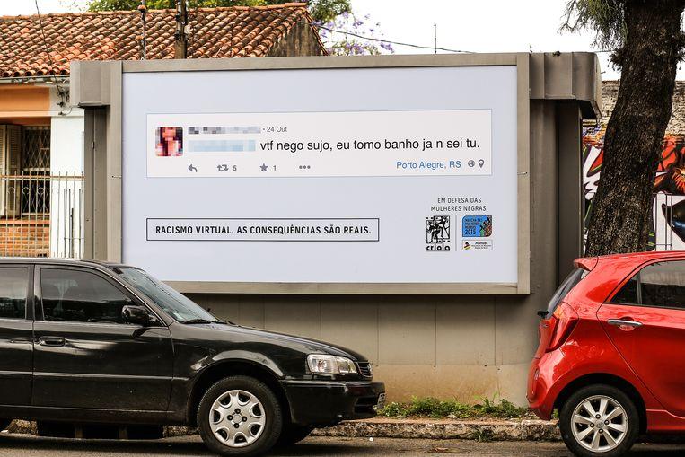 'GFY (go fuck yourself, red.) neger, als ik jou was, zou ik me wassen' Beeld Racismovirtual.com.br