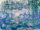 Een van de zeven waterlelies die Monet heeft geschilderd en waarvan er vier te bewonderen zijn.