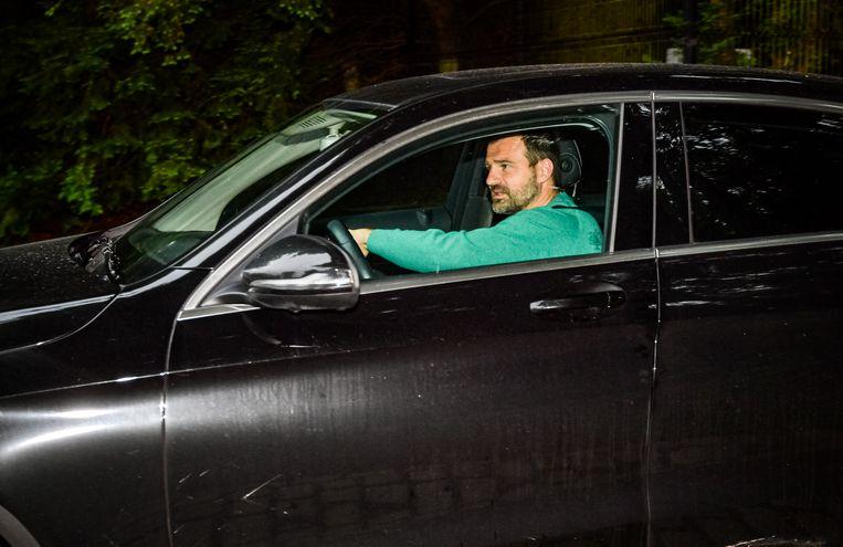 Ivan Leko gisteravond bij het verlaten van het Kasteel Van Bever.