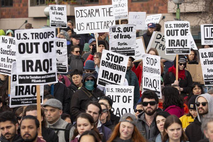 Demonstranten in Seattle.