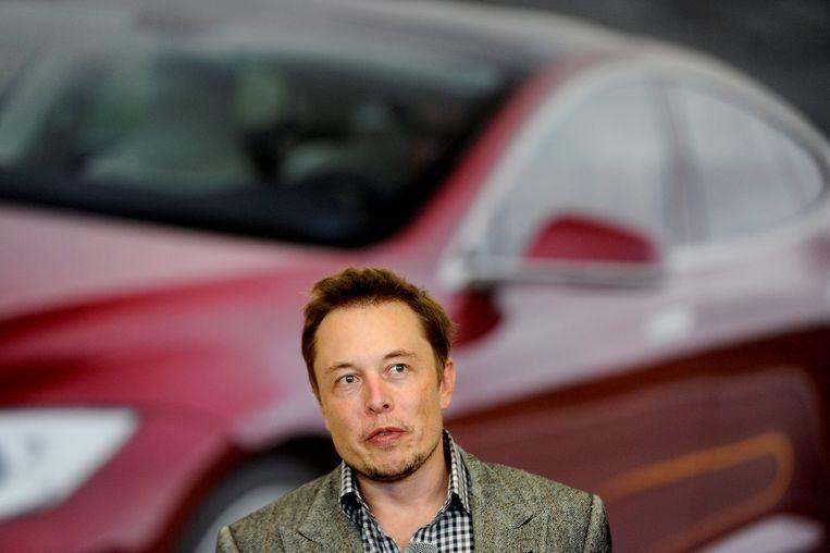 Tesla-topman Elon Musk. Beeld null