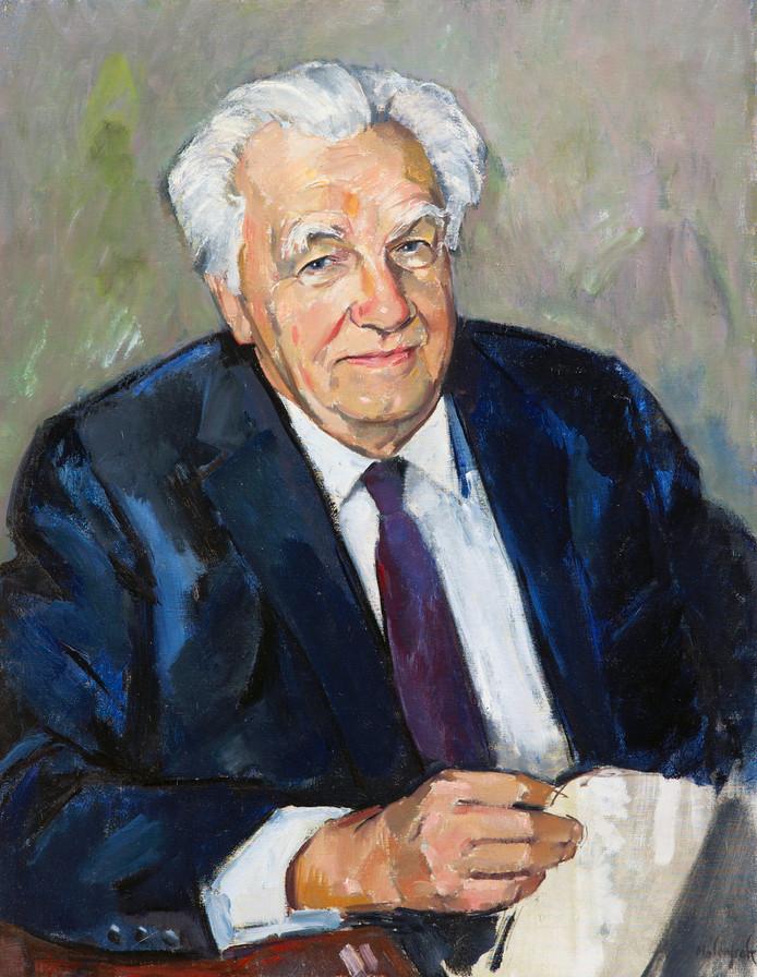 Portret van oud-Kamervoorzitter Frans-Joseph van Thiel, geschilderd in 1982 door Peer van den Molengraft.