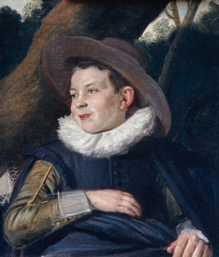 Portret van een jonge jongen uit de familie Van Campen, ca. 1623-1625 Beeld