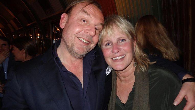 Tom Kellerhuis: 'Schrijf maar twee hoofdredacteuren, dat is leuk.' Marianne Verhoeven: 'Nou, ik ben eigenlijk zijn baas.' Beeld Schuim