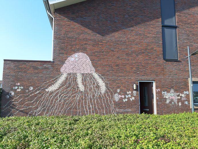 Vijf kinderen in Breda maken de meest prachtige krijtkunst op muren in de wijk Waterdonken en Geeren-Noord.