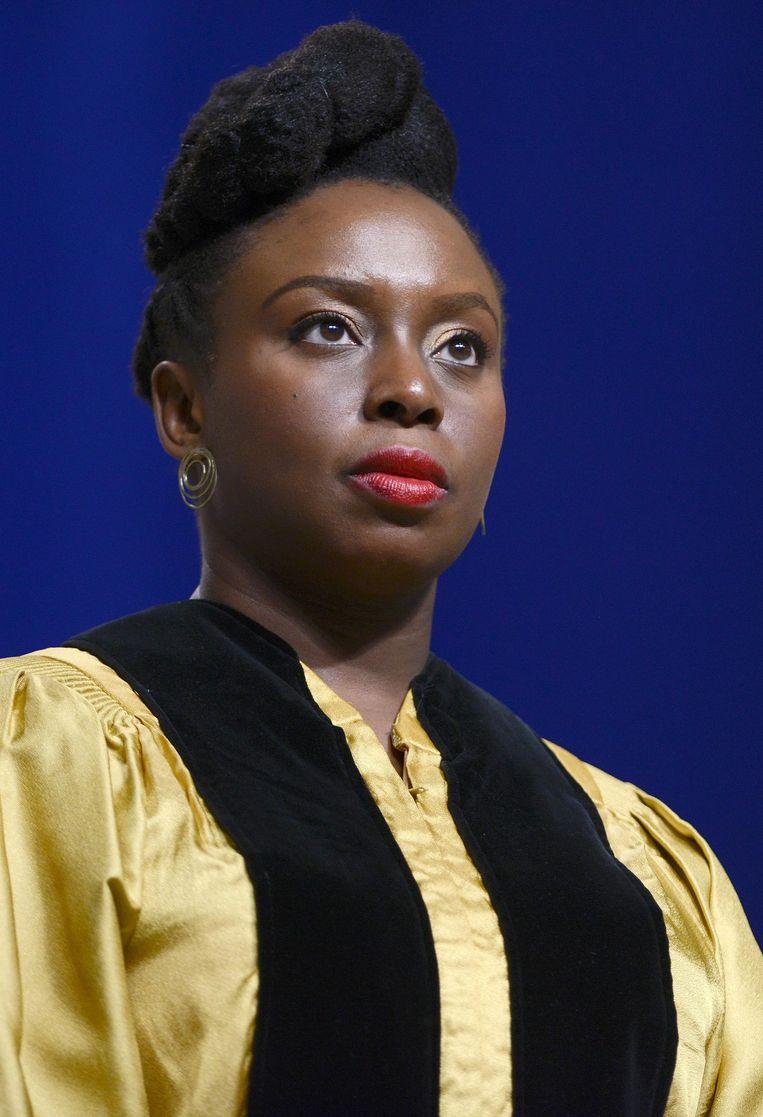 Schrijver Chimamanda Adichie: 'Ik kan niet voor iedereen spreken' Beeld afp