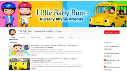 YouTube-kanaal Little Baby Bum  'voor paar miljoen euro' verkocht