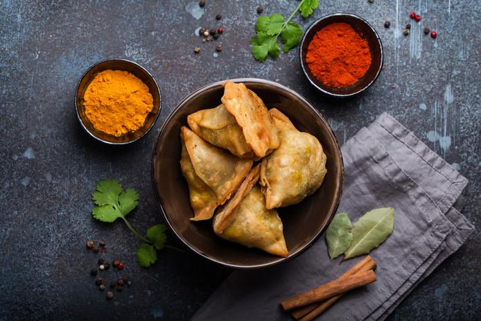 Vegetarische Indiase samosas