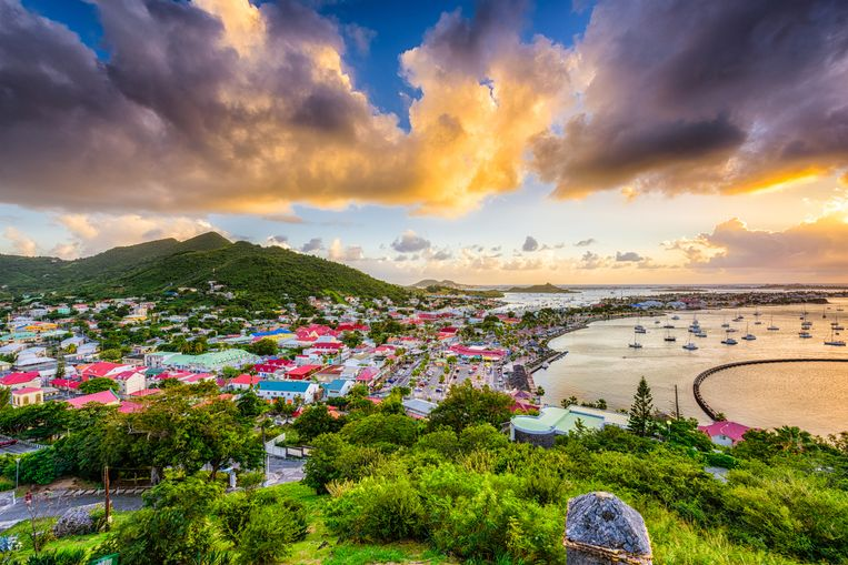 Het eiland Sint-Maarten