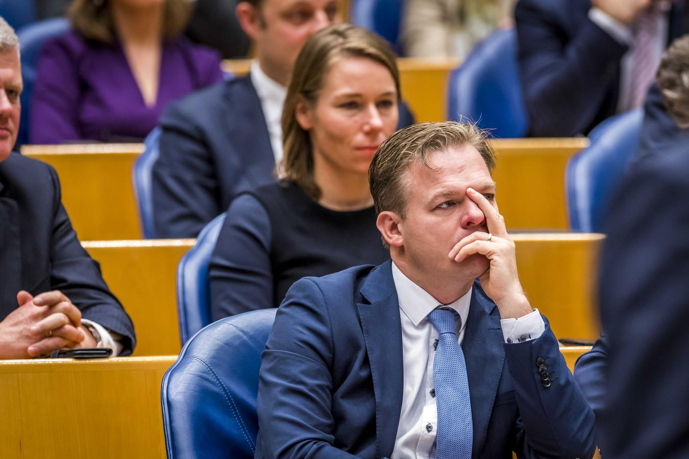 Pieter Omtzigt (CDA) tijdens een plenair debat in de Tweede Kamer over de regeringsverklaring.