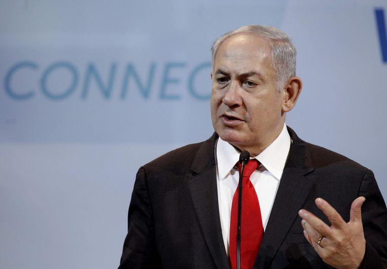 De Israëlische premier Benjamin Netanyahu. Beeld afp