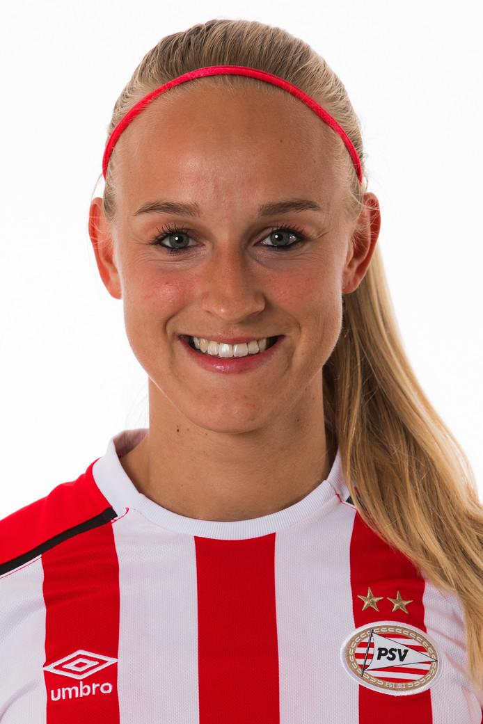 Kirsten Koopmans scoorde in haar laatste competitiewedstrijd voor PSV.