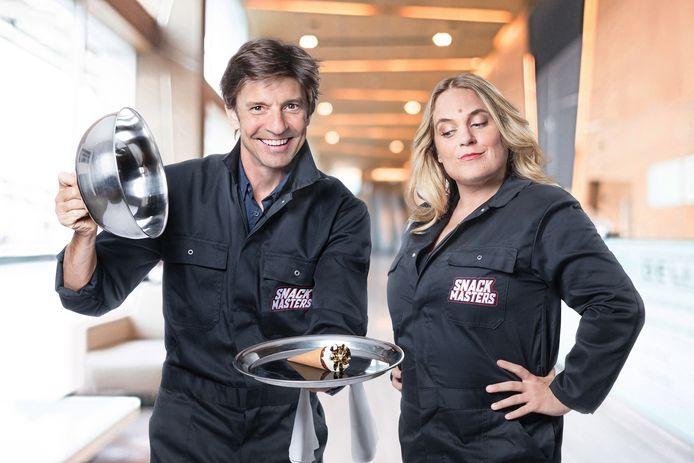 Koen Wauters en Ruth Beeckmans in 'Snackmasters'