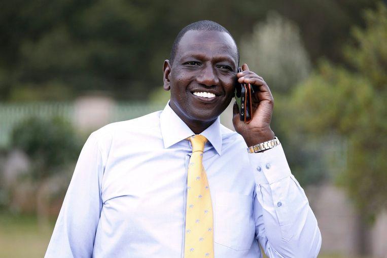 William Ruto nadat hij hoorde dat zijn zaak nietig werd verklaard. Beeld afp