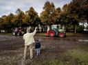 Boeren vertrekken van het malieveld.
