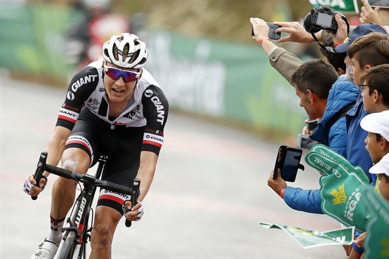 Wilco Kelderman werd vorig jaar vierde in de Vuelta. Beeld EPA
