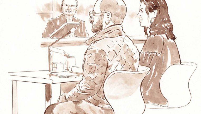 Bart van U, tijdens een zitting in februari. Beeld Anp