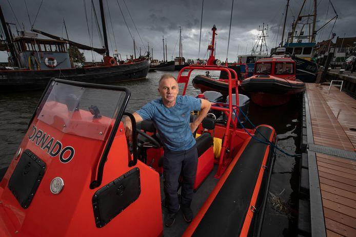 Klaas Post (56) op één van de boten die hij gebruikte voor zijn Hollywood-klus.