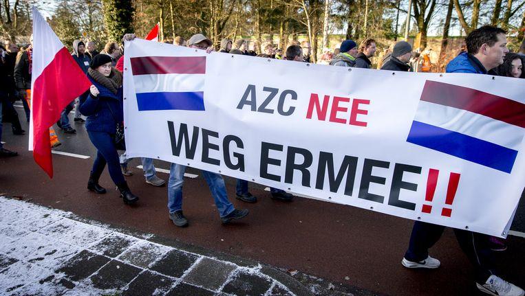 Eerdere Pegida-demonstratie in Apeldoorn. Beeld anp