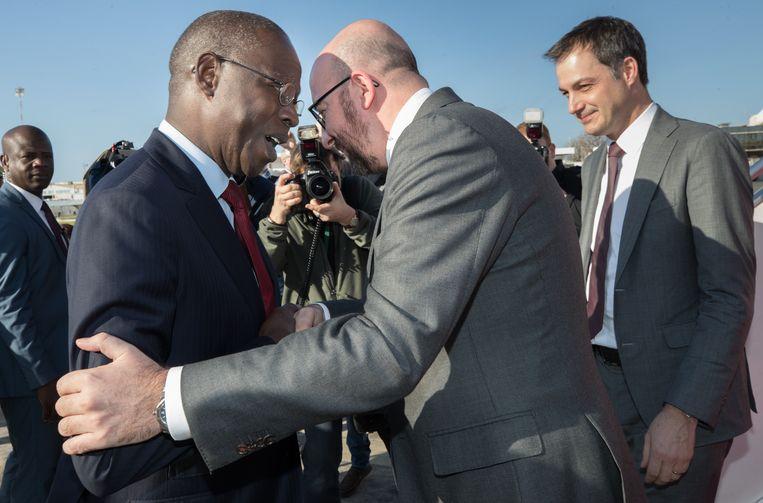 Premier Mahammed Boun Abdallah Dionne tijdens het bezoek van Charles Michel en Alexander De Croo in februari vorig jaar.