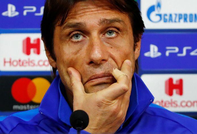 Antonio Conte op een eerdere persconferentie.