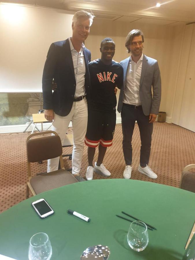 Peter Fossen (operationeel directeur PSV), Bruma en technisch manager John de Jong van PSV