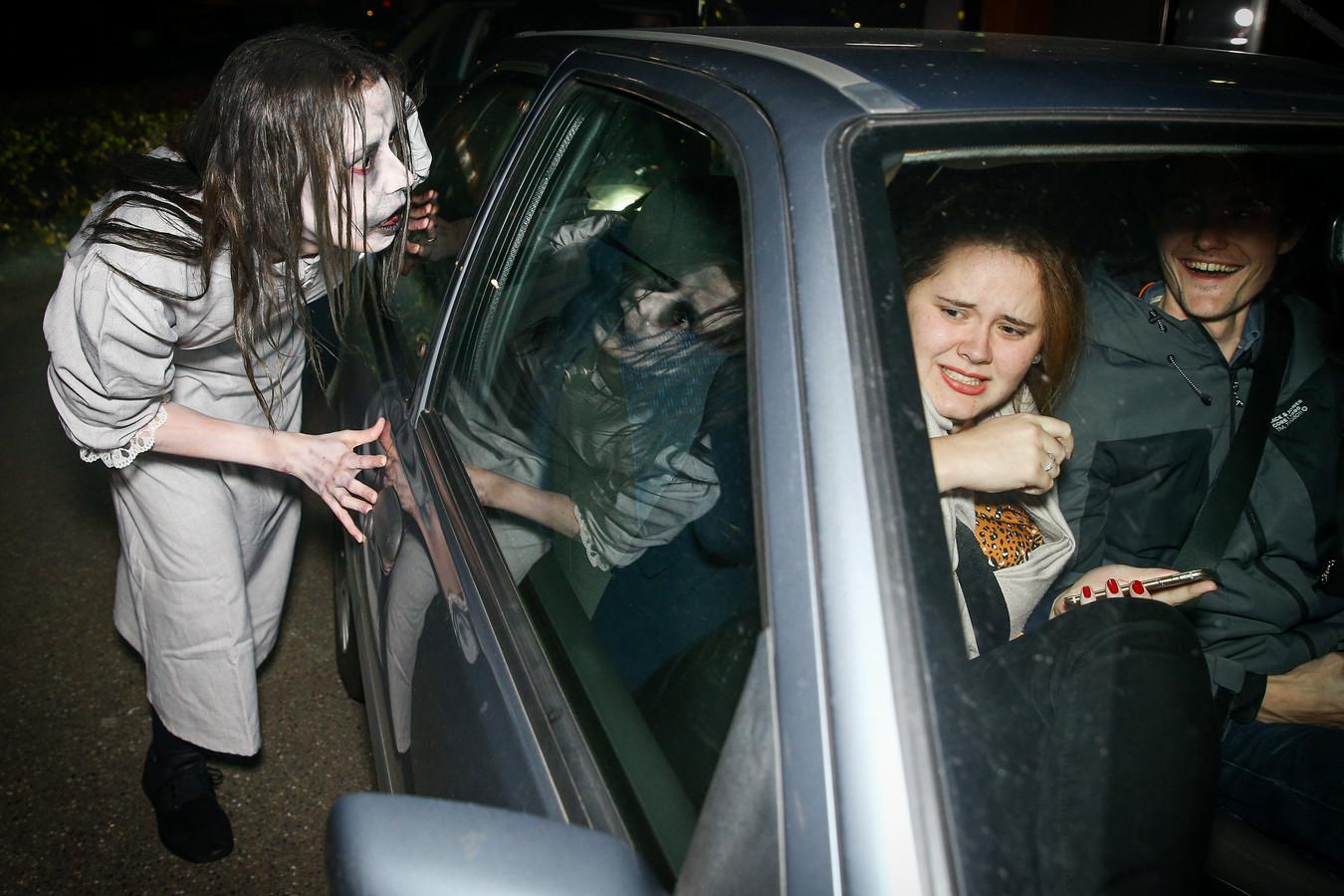 De Halloween Drive bij de McDonald's in Beuningen.