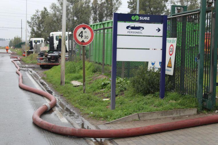 Brand bij afvalverwerkingsbedrijf Suez.