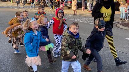Van koeien tot pakjes friet: kinderen trekken verkleed  door Westmalle in carnavalsstoet