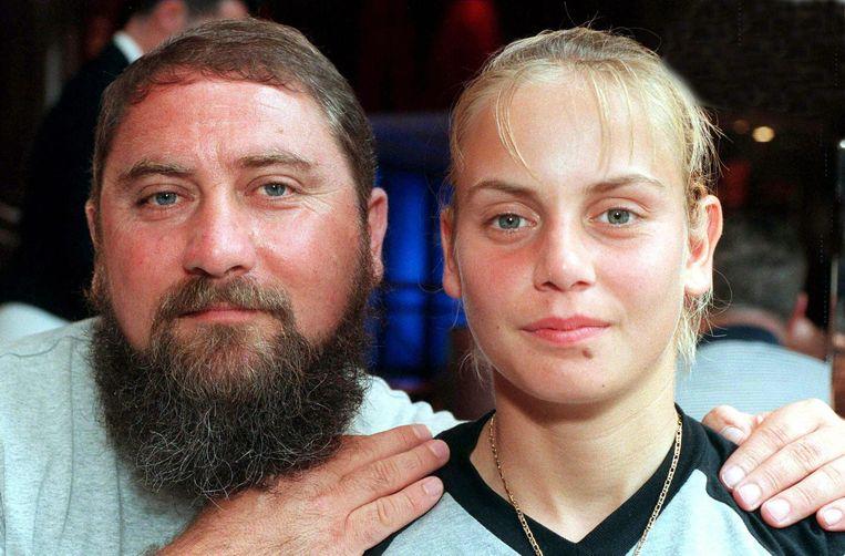 Dokic en haar vader Damir in 2000.