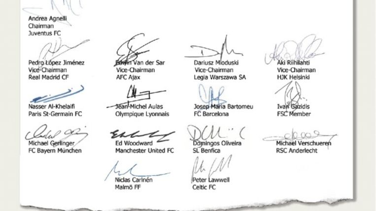 Ook Michael Verschueren ondertekende een protestbrief van de topclubs aan het adres van de FIFA.