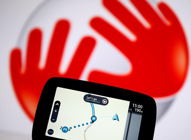 De TomTom-navigatiekastjes zien we nog maar zelden, nu auto's steeds meer mobiele telefoons op wielen zijn. Beeld Reuters