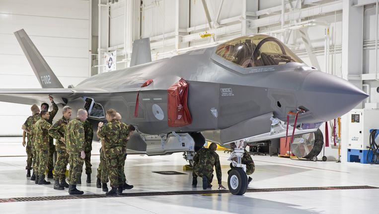 Een test F-35A straaljager van de Koninklijke Luchtmacht op de Eglin Air Force Base in Florida. Beeld ANP