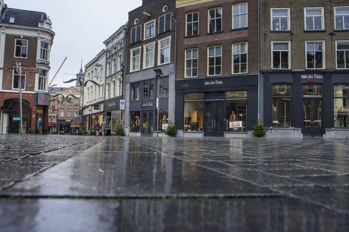 De uitgestorven binnenstad van Zutphen.
