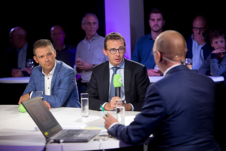 Lode Ceyssens en Wouter Beke bij TVL.