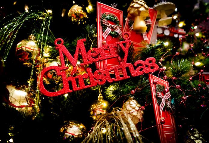 Kerstdecoratie bij een tuincentrum, foto ter illustratie.