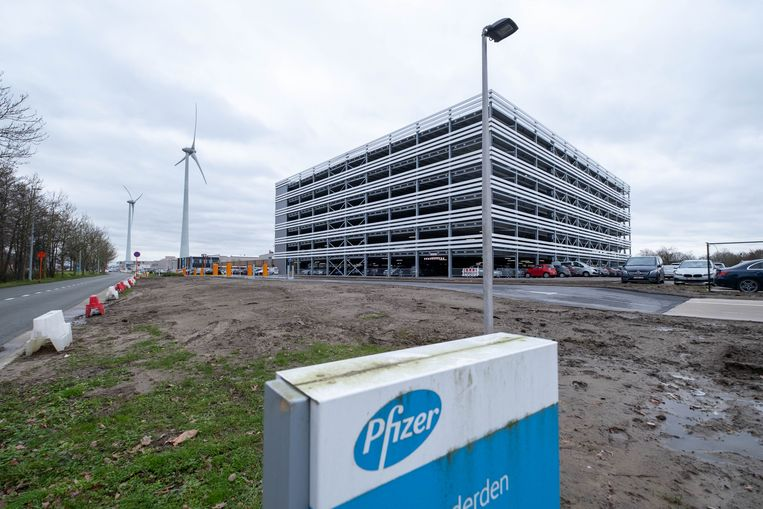 De parking van Pfizer is in gebruik genomen