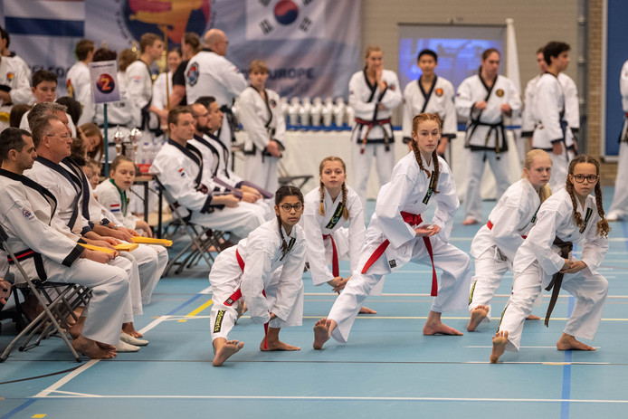Ruim 220 deelnemers uit binnen- en buitenland waren actief bij het Tang Soo Do kampioenschap in de Pathmoshal.