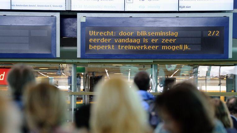 De storing op Utrecht CS. Beeld ANP