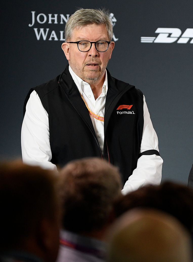 Ross Brawn tijdens een persconferentie in Melbourne, waar deze maand het nieuwe F1-seizoen opnieuw van start ging.