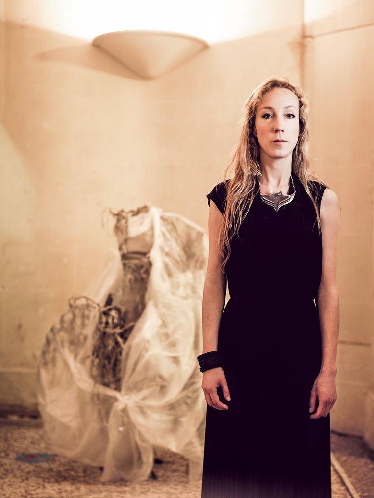 Iris van Herpen. De designer won vorig jaar de Johannes Vermeerprijs, de Nederlandse staatsprijs voor de kunsten Beeld Jean Baptiste Mondino