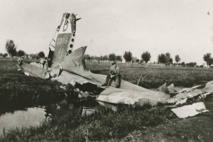 Neergestorte B17-bommenwerper.