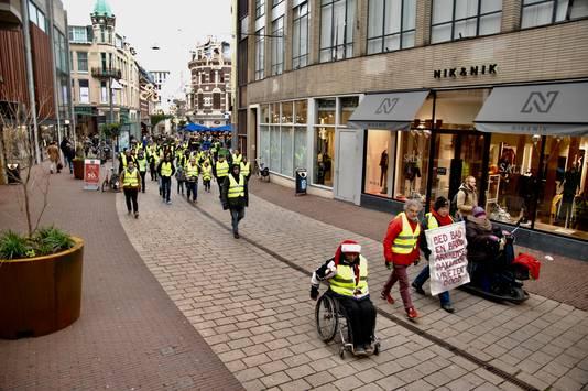 Gele hesjes in Arnhem